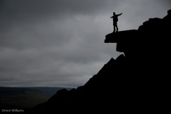 Figure on Derwent Edge