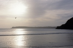 Giltar Point and Caldey Island from Tenby South Beach
