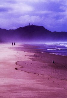 Walkers on the beach, Byron Bay